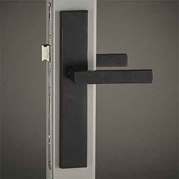Bronze Meridian Lever with Urban Backplate in Dark Bronze