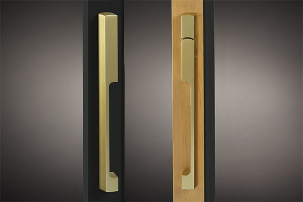 Brushed Gold Dallas Sliding Door Handle