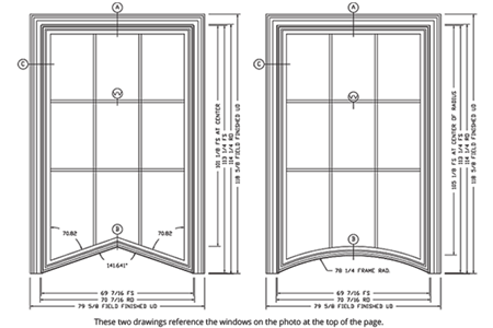 Majesta double hung drawings DePauw University