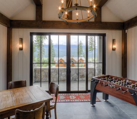 ultra sliding patio doors interior day