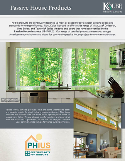 brochures kolbe windows doors