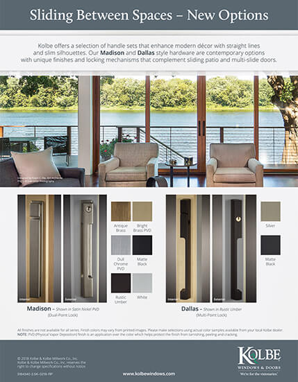 Download Madison & Dallas Sliding Door Handles sell sheet