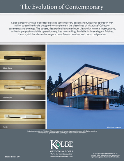 Download VistaLuxe Casement & Awning Evo Handle sell sheet