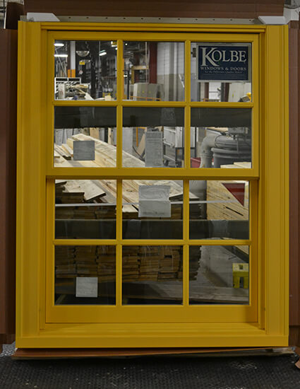 CS82-2 Custom Yellow Double Hung Exterior