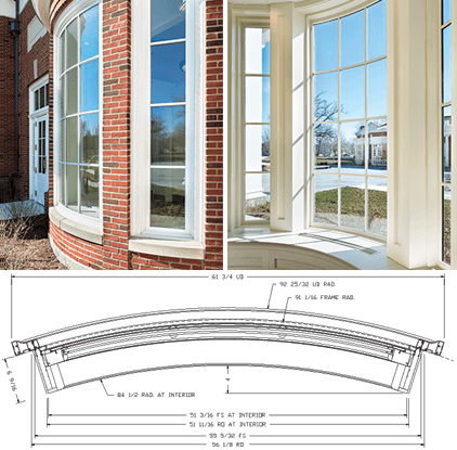 DePauw University Curved Windows