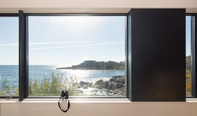 The Contemporary Design Showcases Large Energy Efficient Vistaluxe Collection Windows To