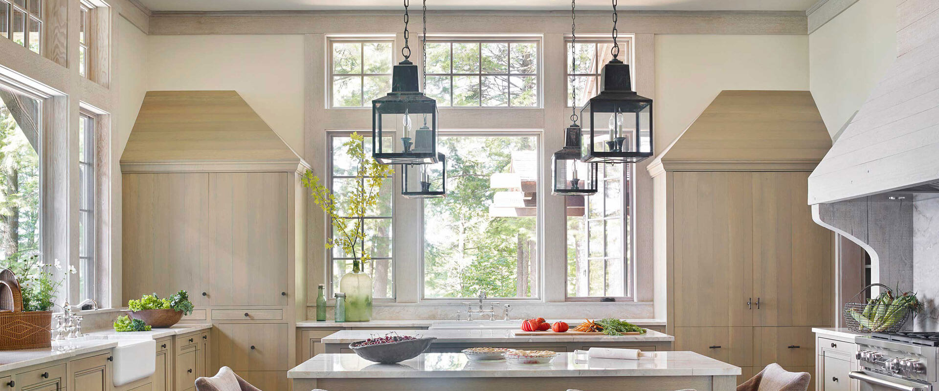 French casement windows photos houzz - Interior Home Kitchen Photo Of Ultra 3 Wide Crank Out Casement Open Window With