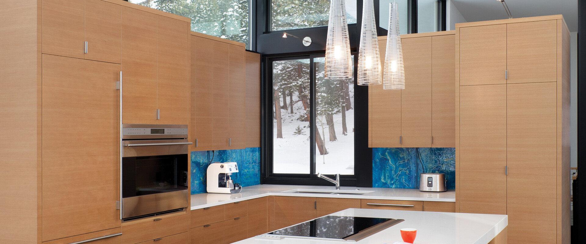 VistaLuxe Double Sliding Window interior contemporary kitchen Winter