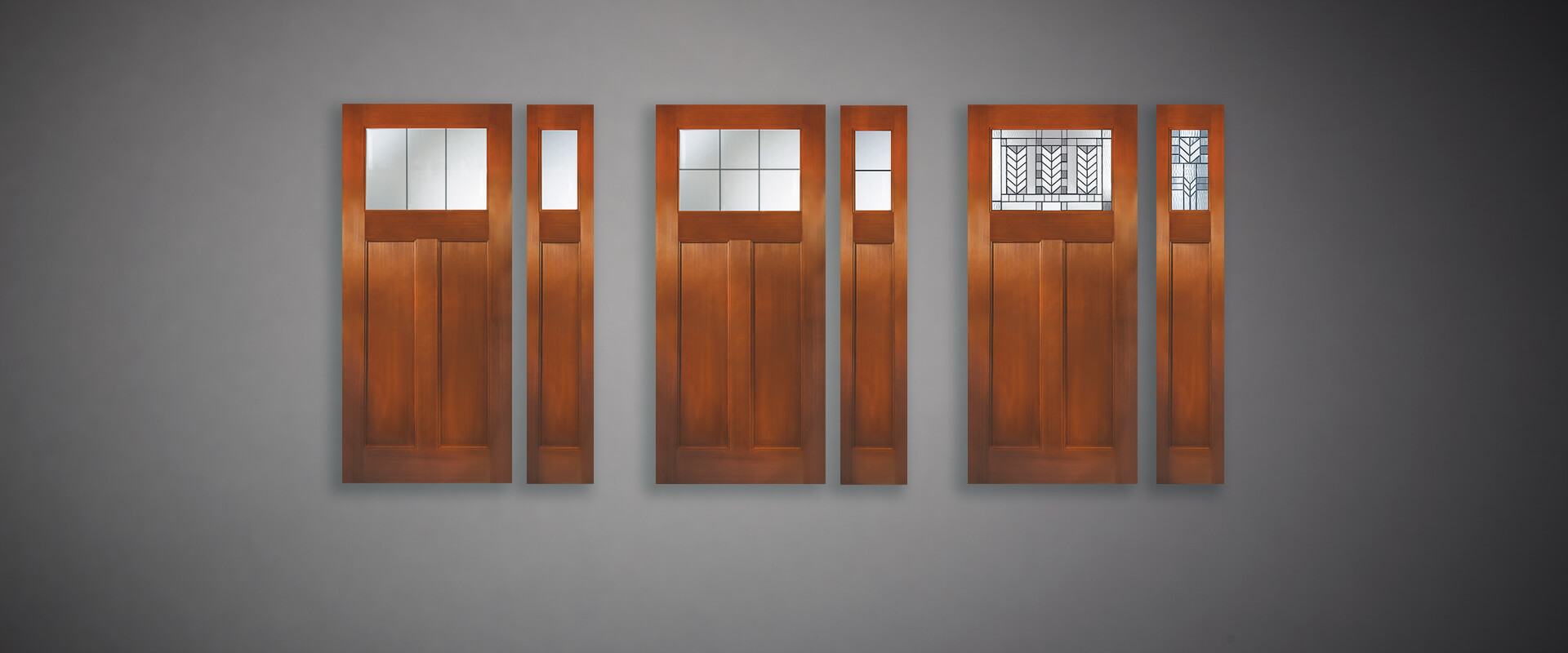 craftsman fir fiberglass door panels