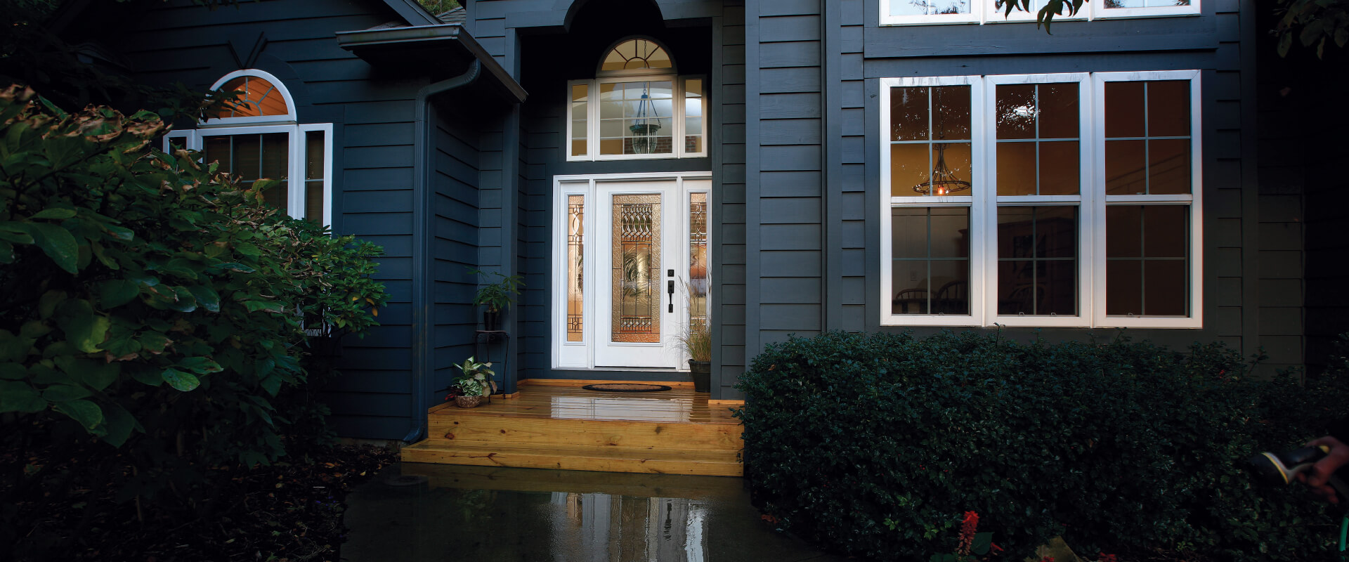 Standard Smooth Fiberglass Door Panel Martiel Glass Exterior