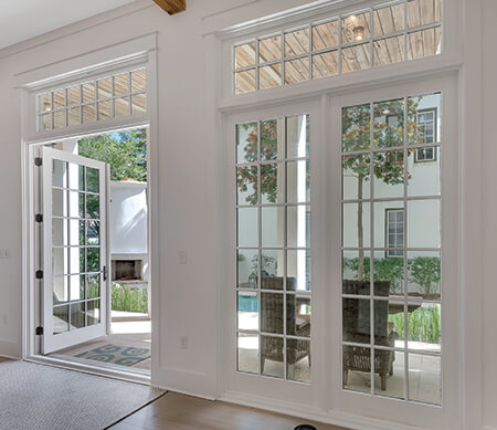 Ultra Outswing Patio Doors With Transoms