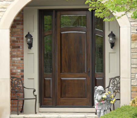 Heritage Inswing Entrance Door Wood Exterior Day