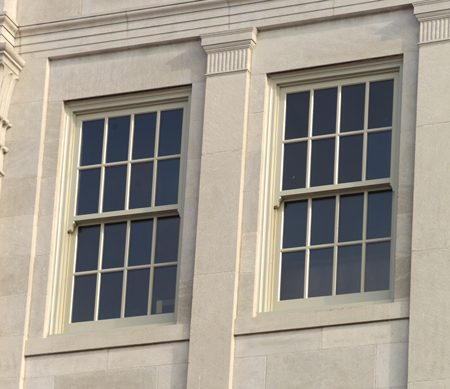 Heritage Series Wood Old World Clic Double Hung Windows With Ogee Lugs In The Grand Theater