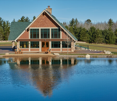 Exterior home on lake