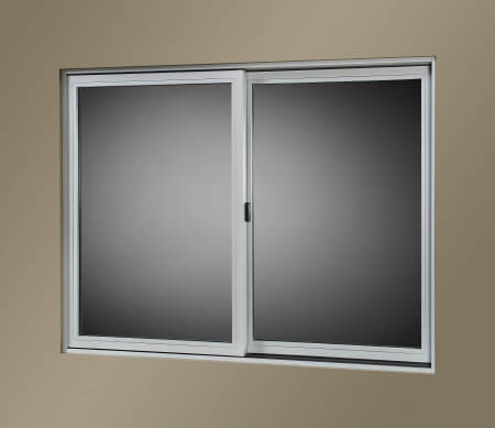 VistaLuxe Complementary Double Sliding Window With Misty Gray Interior.