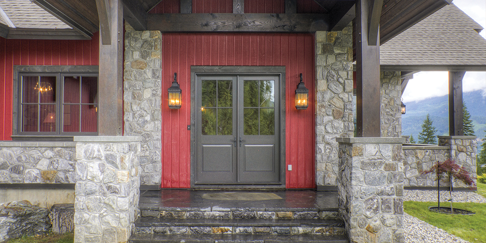 ... Let In Light And Give This Home A Stylish Appearance. Glass Panels On  The Door Coordinate With The Adjacent Windows, Bringing The Whole Look  Together.